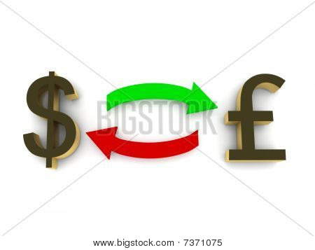 Currency Exchange - Dollar And Pound