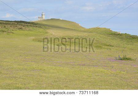 Lighthouse On Beachy Head. England