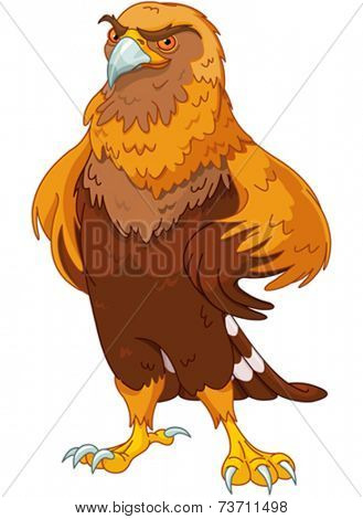Illustration of beautiful golden eagle
