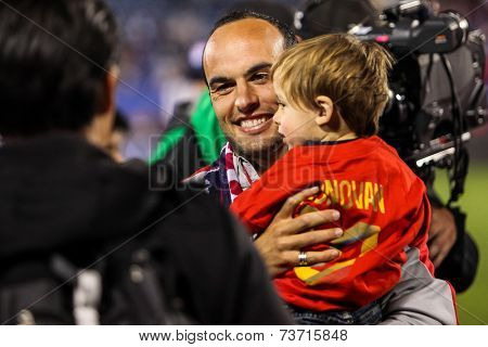 HARTFORD - OCTOBER 10:   Landon Donovan after US International Friendly match between US Men`s National Team vs Ecuador,  on October 10, 2014, in Rentschler Field stadium, Hartford, USA.