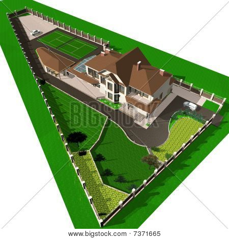 Country house with a plot