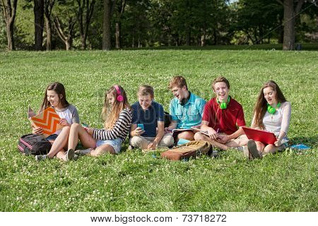 Cheerful Students Outdoors