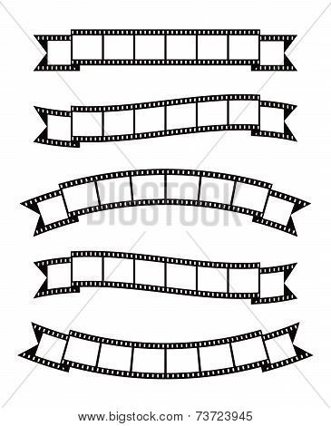 Film strips banner ribbon