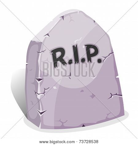 Cartoon Tombstone With Rip