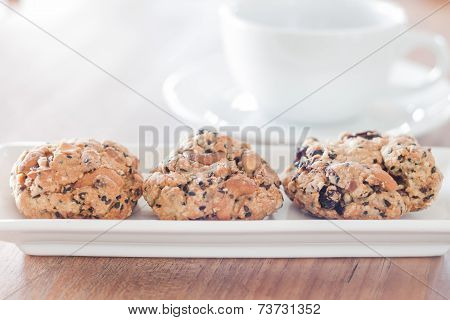 Healthy Cookies With Coffee Cup