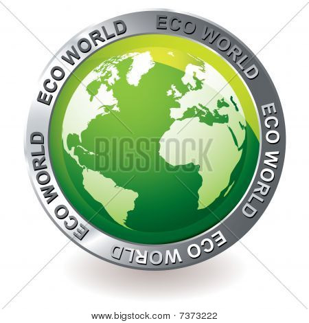 Green Icon Eco Earth Globe