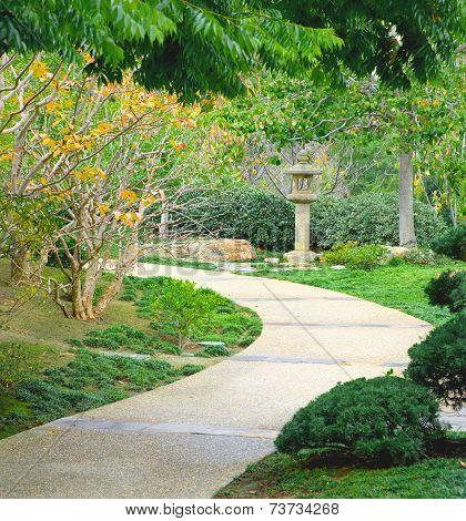 Oriental Garden Pathway