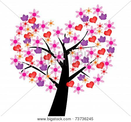 Ilustrated tree of love