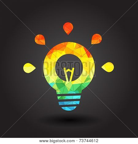 Abstract light bulb illustration