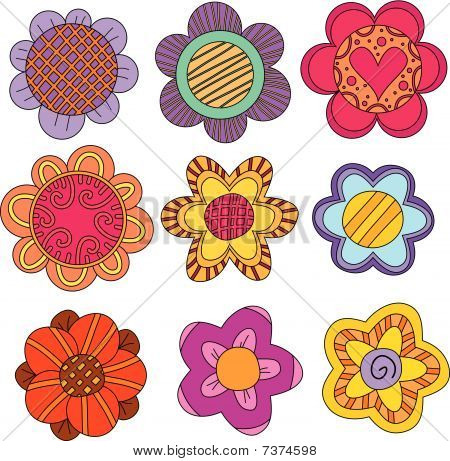 Whimsical flower collection