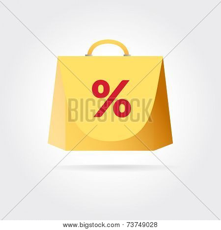 Abstract design concept isolated on colored background for business design.