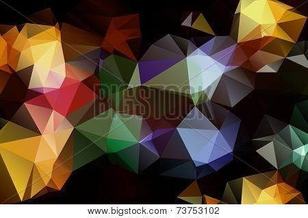 Pattern of geometric shapes. Triangles.Texture with flow of spectrum effect. Geometric background.