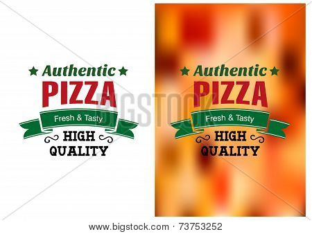 Two Pizza badges or labels