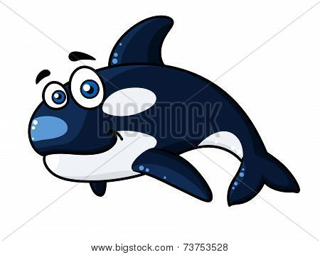 Happy cartoon orca or killer whale