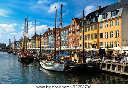 New Harbor (Nyhawn) view in Copenhagen
