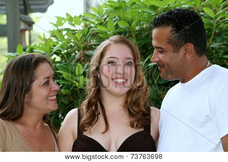 Prom Girl & Loving Parents