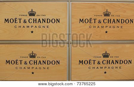 Moet and Chandon champagne presented at the National Tennis Center during US Open 2014