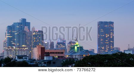 Bangkok Cityscape At Dusk