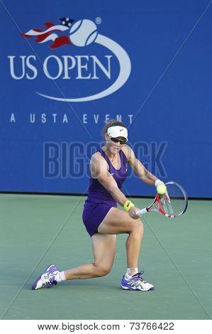 Grand Slam Champion Samantha Stosur during US Open 2014 second round match against  Kaia Kanepi