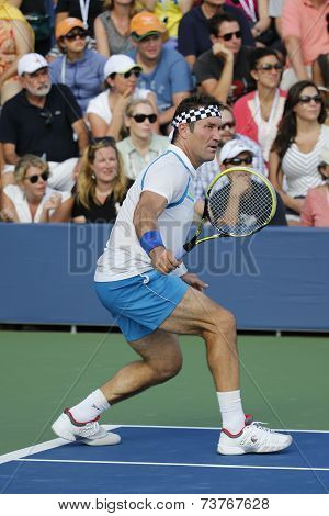 Grand Slam champion Pat Cash during US Open 2014 champions exhibition match