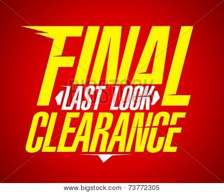 Final last look clearance sale design.