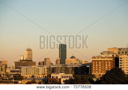 Boston Skyline In Morning Light