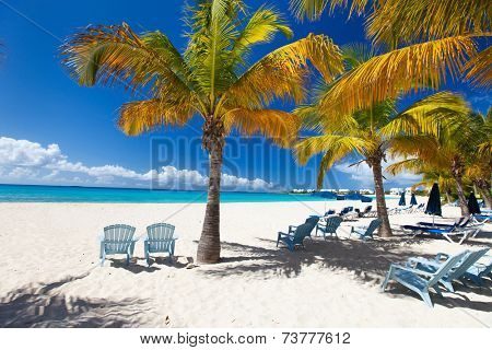 Perfect Caribbean beach on Anguilla island