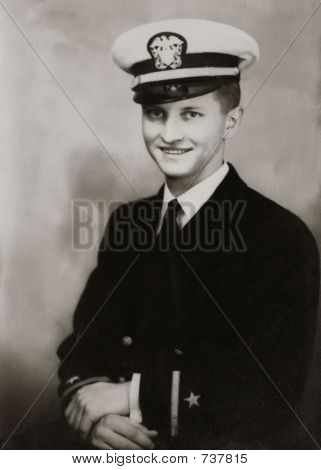 Vintage Man 1944 Sailor