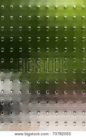 Textured glass with translucent color fields