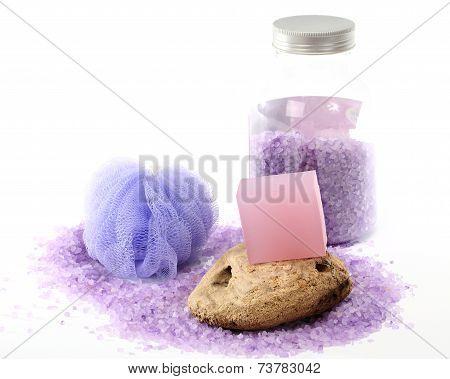 Lavender Bar Soap And Salt