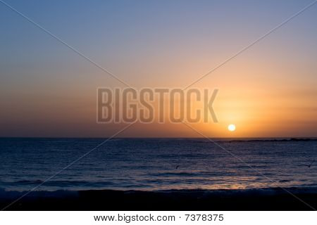 Glorious Completed Sunrise Over Ocean