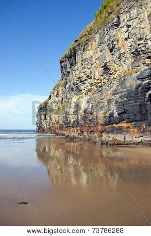 Giant Cliffs Of Ballybunion On The Wild Atlantic Way