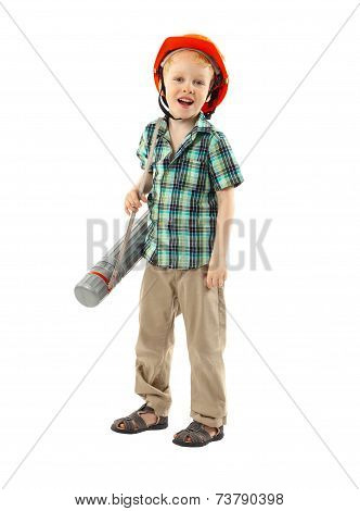 Little Boy With Hard Hat