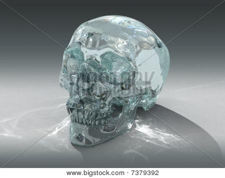 3D model of a human Crystal Skull