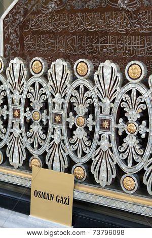Bursa - Osman Gazi Tomb - Brass balustrade.