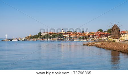 Panoramic View Of Ancient Town Nessebar, Bulgaria
