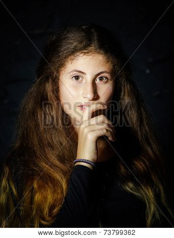 Cute Young Armenian Girl Posing In Studio