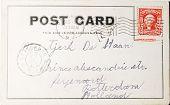 Постер, плакат: Винтажные открытка 1906 из США в Нидерланды