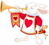 image of trumpet  - Illustration of Bunny royal trumpeter - JPG