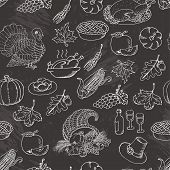 picture of cornucopia  - Thanksgiving seamless pattern sketch doodle - JPG