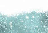 stock photo of snow border  - Christmas card - JPG