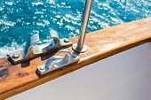 stock photo of bollard  - bollard docked yachts in the port is fixed rope - JPG