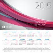 picture of monday  - Calendar 2015 vector template week starts monday - JPG
