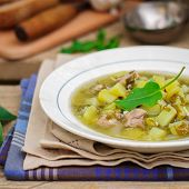 picture of sorrel  - A Plate of Summer (Spring) Chunky Sorrel Soup square