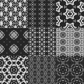 picture of lace-curtain  - Set of curtain lace seamless generated textures - JPG