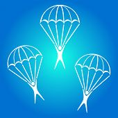 Постер, плакат: Parachute Jumper Icon