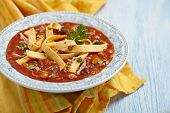 picture of sweet-corn  - Chicken Tortilla Soup with Bean - JPG