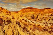 foto of semi-arid  - a view of the desert of Tabernas - JPG
