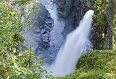 stock photo of humidity  - Waterfall in rural countryside - JPG