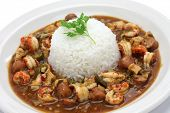 stock photo of chicken  - gumbo with crawfish - JPG